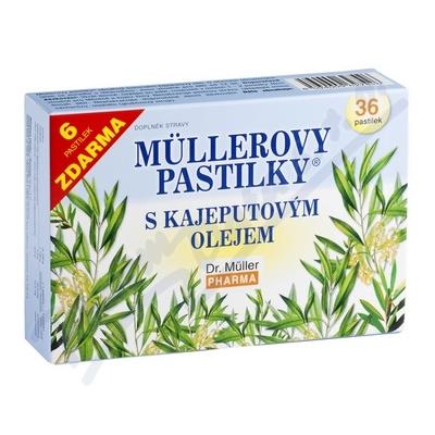 Müllerovy pastilky s kajeputovým olejem 30+6ks