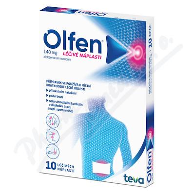 Olfen 140mg léčivé náplasti drm.emp.med.10x140mg