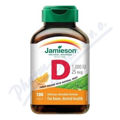 JAMIESON Vitamín D3 1000 IU pomer.cucací tbl.10