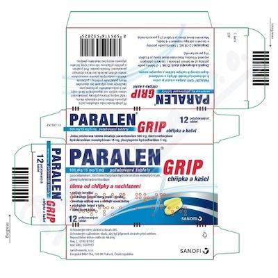 Paralen Grip chřipka a kašel 500/15/5mg tbl.flm.12