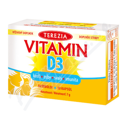 TEREZIA Vitamín D3 1000 IU tob.30