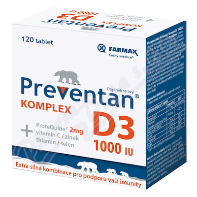 Preventan Komplex D3 1000IU tbl.120
