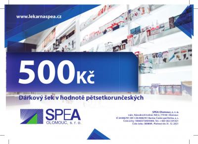 Dárkový šek v hodnotě 500Kč