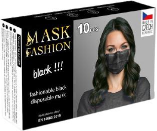 Obličejová maska černá 10ks