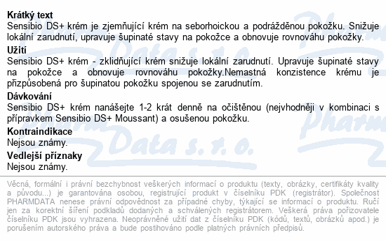 BIODERMA Sensibio DS+ Krém 40ml