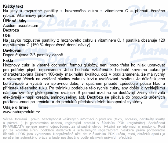 Intact rolička hroznový cukr s vit.C Černý ryb.40g