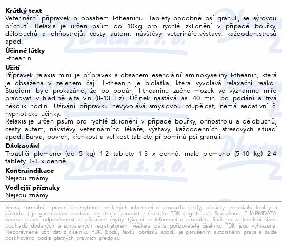 relaxis CANIS mini (sýrová přích.) tbl. 60
