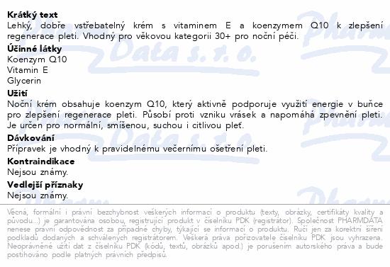 RYOR Koenzym Q10 Noční krém 50ml