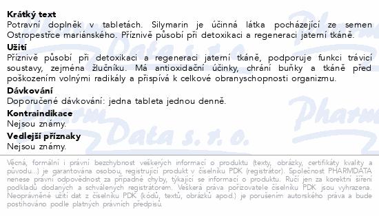 nefdesanté Silymarin tbl.60