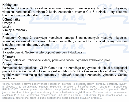 Protectum Omega 3 cps.90