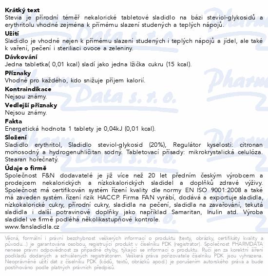 Fan Stolní sladidlo tbl.150