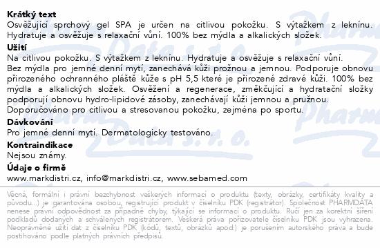 SEBAMED Sprchový gel Spa 200ml