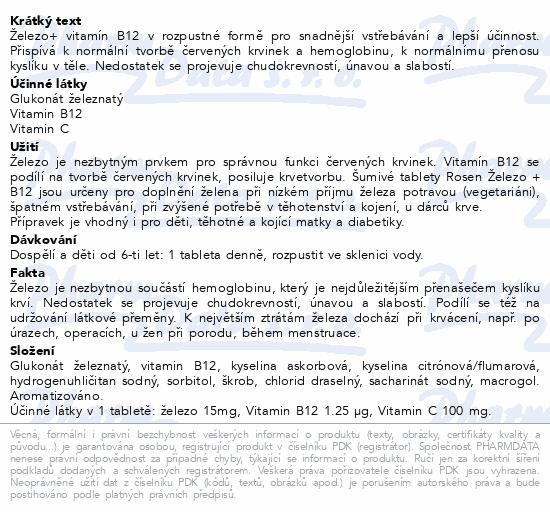 Rosen Železo+B12 tbl.eff.20