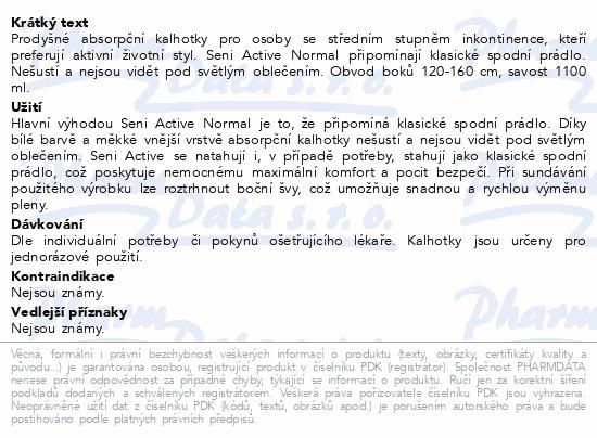 Seni Active Normal Extra Large ink.plen.kalh.10ks