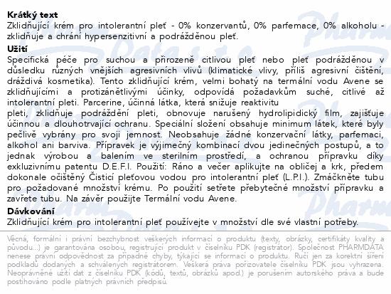 AVENE Krém pro intolerantní pleť (CPI) 50ml