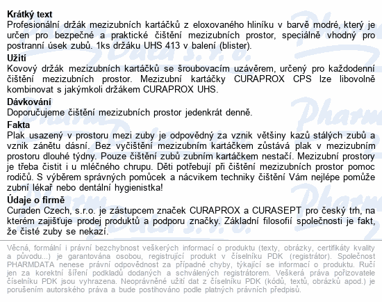 CURAPROX UHS 413 držák mezizubních kartáčků modrý