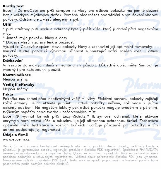 EUCERIN DermoCapillaire pH5 šampon na vlasy 250ml