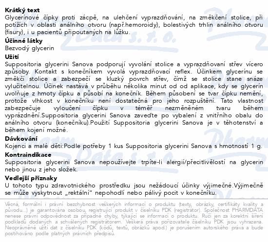 SUPP.GLYCERINI SANOVA Glycerín.čípky Děti 1g 5ks