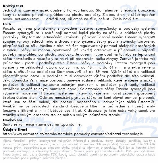 Sáček Esteem Synergy+ uzavř.béž.48mm STD filtr30ks