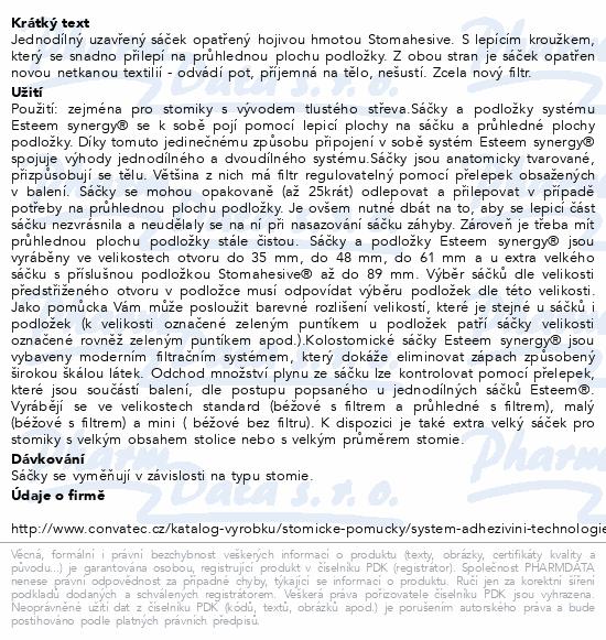 Sáček Esteem Synergy+ uzavř.béž.61mm STD filtr30ks