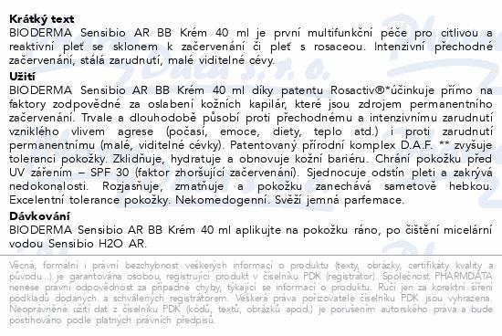 BIODERMA Sensibio AR BB Krém 40ml