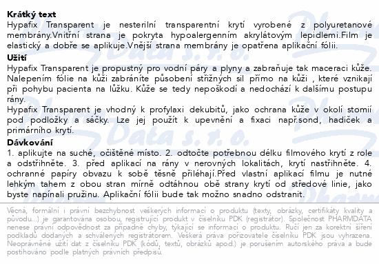 Hypafix Transparent 10cmx10m fóliové kr.role 1ks