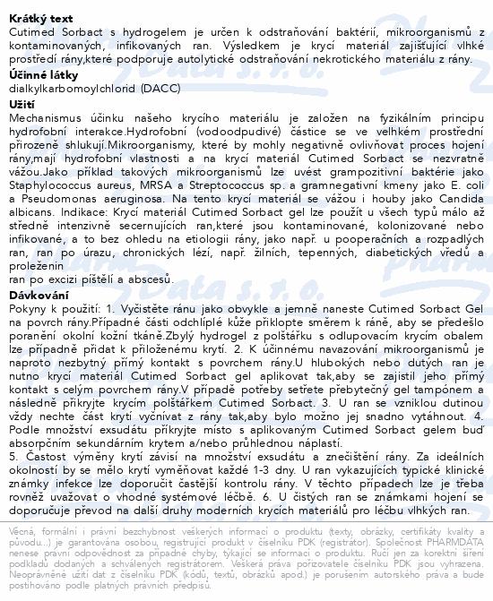 Cutimed Sorbact gel 7.5x7.5cm 10ks antimikrob.kr.