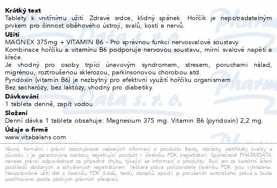 Magnex 375mg+B6 tbl.250