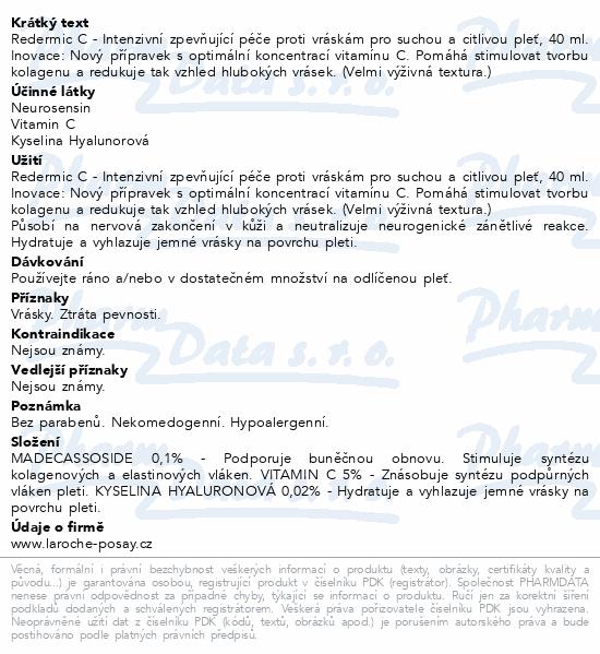 LA ROCHE-POSAY REDERMIC C PS 40ml