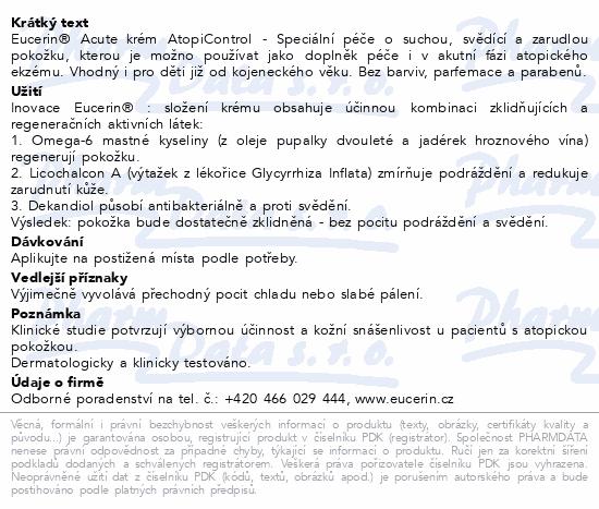 EUCERIN Acute Care krém suchá zarud.svěd.pok.40ml