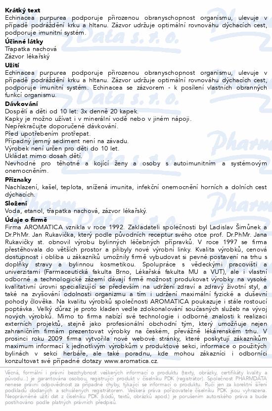 AROMATICA Echinacea se zázvorem bylin.kapky 100ml