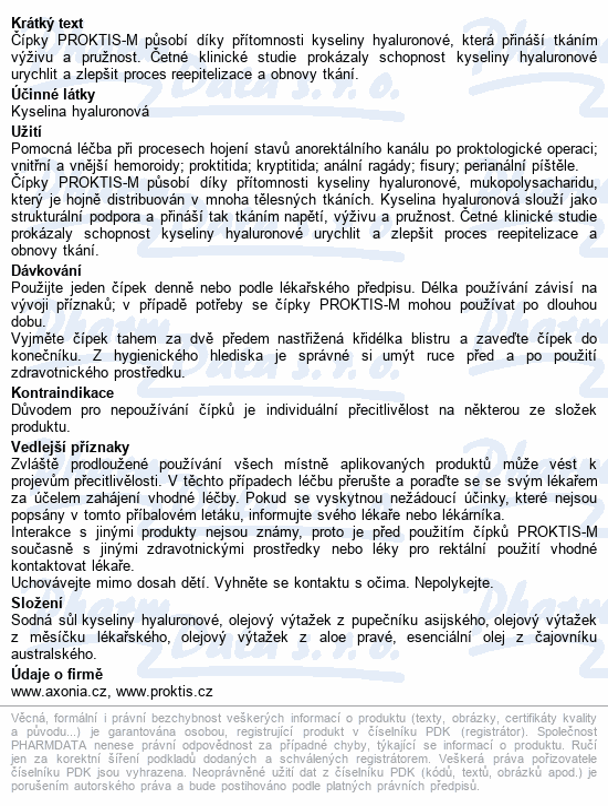 PROKTIS-M rektální čípky 10x2g