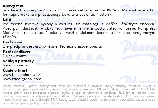 Matovlies kompresy netk.text.30g 10x10cm 100ks