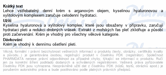RYOR Arganový Denní krém s kys.hyaluron. 50ml