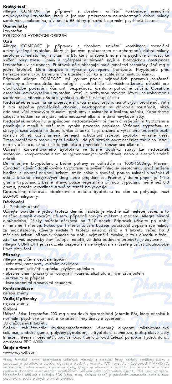 allegra COMFORT tbl.30