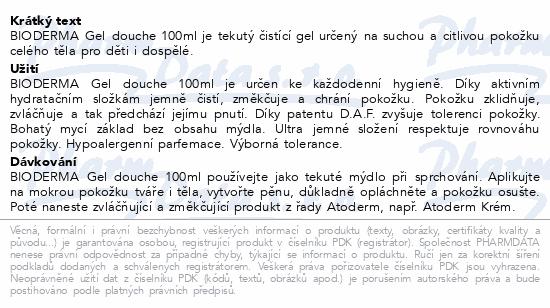 BIODERMA Atoderm sprchový gel 100ml