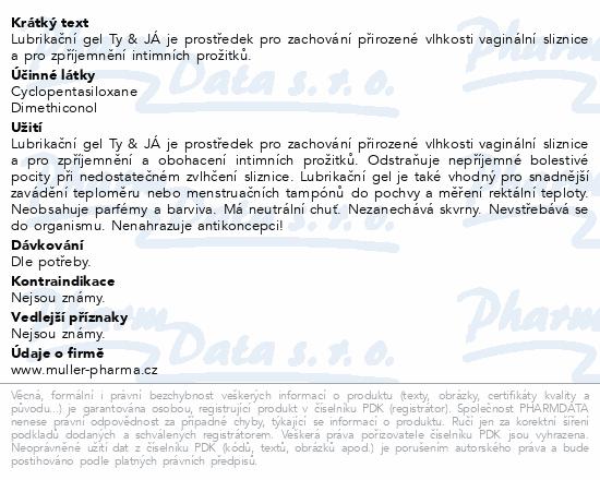 Lubrik.gel Ty&Já silikonový 50ml Dr.Müller