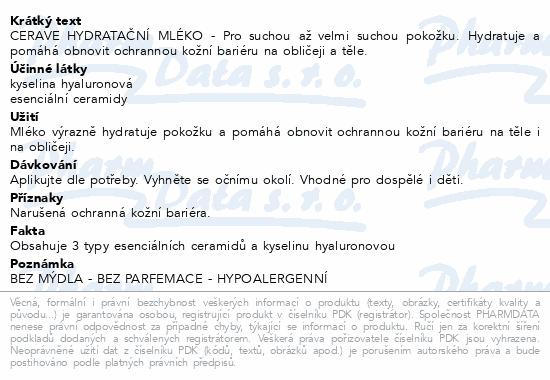 CERAVE Hydratační mléko 236ml