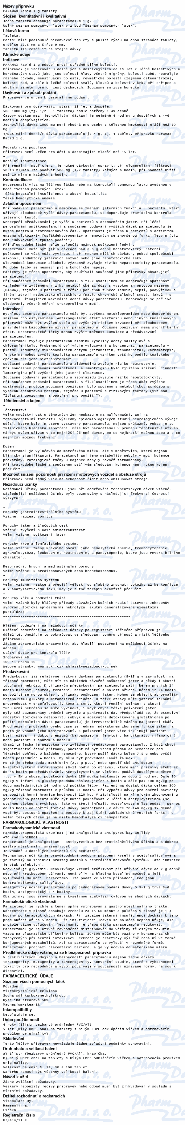 Paramax Rapid 1g por.tbl.nob.5x1000mg