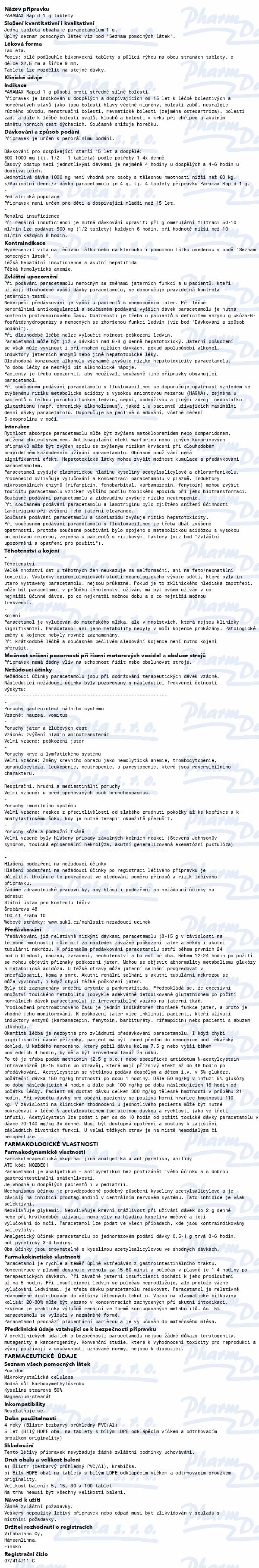 Paramax Rapid 1g por.tbl.nob.15x1000mg